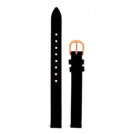 Bracelet Oui Merci pour Ø32mm cuir noir-RG