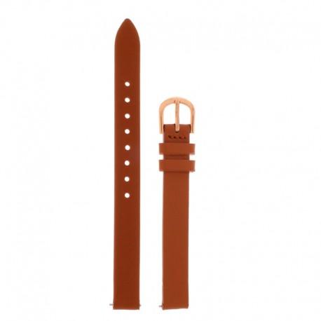 Bracelet Oui Merci pour Ø32mm cuir tan-RG