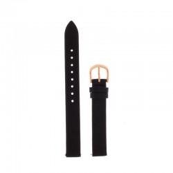 Bracelet Oui Merci pour Ø34mm cuir noir-RG