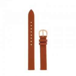 Bracelet Oui Merci pour Ø34mm cuir tan-RG