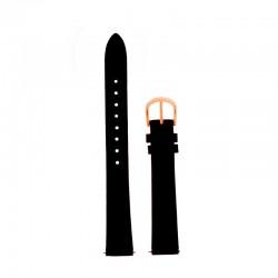Bracelet Oui Merci pour Ø38mm cuir noir-RG