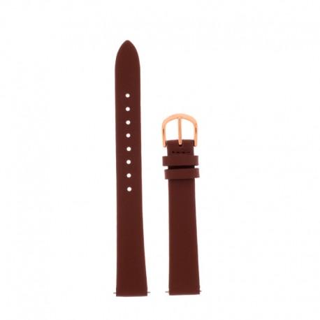Bracelet Oui Merci pour Ø38mm cuir marron-RG