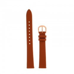 Bracelet Oui Merci pour Ø38mm cuir tan-RG