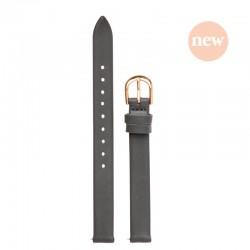 Bracelet Oui Merci pour Ø32mm cuir gris foncé-RG