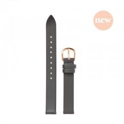 Bracelet Oui Merci pour Ø34mm cuir gris foncé-RG