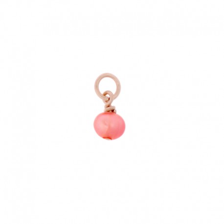 Pampille Oui & Me ref MC040016, perle corail, Taille 3mm