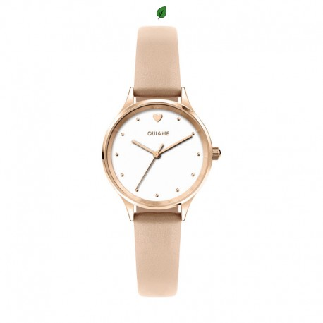 MINETTE 28MM 3H WHITE DIAL NUDE STRAP