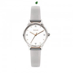 BICHETTE 28MM 3H WHITE DIAL GRAY ST