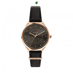 BICHETTE 32MM 3H GREY DIAL BLK ST
