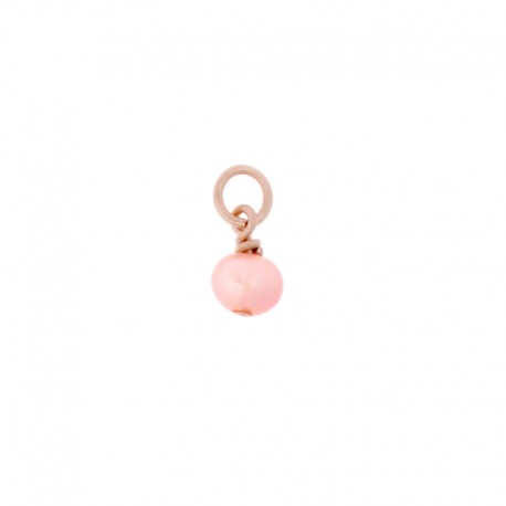 Pampille Oui & Me ref MC040015, perle rose, Taille 3mm