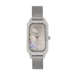 FINETTE 20MM 2H SILVER DIAL MESH BR SS